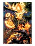 Incredible Hulks No.618: Dr. Strange Fighting Poster by Paul Pelletier