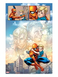 Fantastic Four 588: Panels with Spider-Man Taking Care of Franklin Richards Prints by Nick Dragotta
