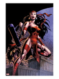 Herc 8: Elektra Posing in an Alleyway Poster par June Brigman