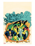 X-Men Giant-Size 1 Cover: Cyclops, Beast, Marvel Girl, Iceman, and Angel Art by Ed McGuiness