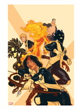 New Mutants No.38 Cover: Moonstar, Sunspot, Magma, Warlock, Cypher, X-Man Posters by Kris Anka