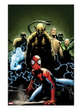 Ultimate Spider-Man 155 Cover: Spider-Man, Green Goblin, Sandman, Electro, and Vulture Poster by Olivier Coipel