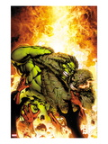 Incredible Hulks 618 Cover: Hulk and Abomination Fighting Prints by Carlo Pagulayan