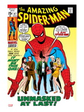 Amazing Spider-Man 87 Cover: Spider-Man, Mary Jane, Gwen, Harry Osborn, and Peter Parker Posing Prints