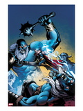 Marvel Adventures Super Heroes 13 Cover: Thor Fighting and Jumping Posters by Reilly Brown