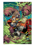 The Mighty Thor No.13 Cover: Thor Fighting, Swinging Mjonir Prints by Walt Simonson