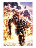 Winter Soldier No.4 Cover: Winter Soldier Escaping an Explosion Poster by Lee Bermejo