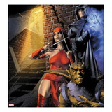 Heroes For Hire 9 Cover: Elektra and Shroud Prints by Jay Anacleto