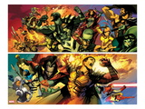 FF No.6: Panels with Black Bolt, Karnak, Triton, Crystal, Medusa, Gorgon, Vulcan, and Gladiator Posters by Greg Tocchini