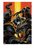 Captain America and Bucky No.627 Cover: Captain America Fighting Prints by Francesco Francavilla