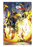 Amazing Spider-Man/Ghost Rider: Motoerstorm No.1: Spider-Man Riding a Flaming Motorcycle Art by Lee Garbett