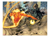Ultimate Mystery No.3: Human Torch and Nick Fury Flying Prints by Rafa Sandoval
