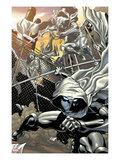 Heroes for Hire No.3: Moon Knight Jumping Posters by Brad Walker