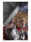 Astonishing Thor 4 Cover: Thor with Mjolnir Prints by Mike Choi
