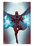 Magneto 1 Cover: Magneto Flying Prints by Roger Cruz