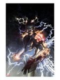 S.H.I.E.L.D. 5 Cover: Nikola Tesla Standing with Energy Prints by Gerald Parel