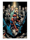 Marvel Adventures Spider-Man 12 Cover: Spider-Man Crouching Prints by Patrick Scherberger