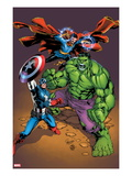Marvel Adventures Super Heroes No.21 Cover: Captain America, Hulk, and Dr. Strange Posing Poster by Carlo Pagulayan
