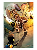 Fear Itself: The Home Front 3: Juggernaut Charging and Smashing Prints by Mike Mayhew