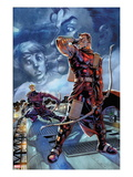 Hawkeye: Blindspot No.2: Hawkeye Sanding with Bow and Arrow Print by Paco Diaz