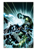 FF 7 Cover: Black Bolt and Ronan the Accuser Fighting Posters by Mark Bagley
