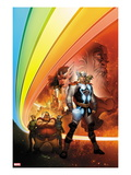 Thor: Whosoever Wields This Hammer No.1 Cover: Thor near the Rainbow Bridge Prints by Tom Raney