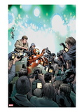 Invincible Iron Man No.510 Cover: Iron Man in a Crowd of Reporters Prints by Salvador Larroca