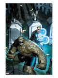 Fantastic Four 605 Cover: Thing and Nathaniel Richards Prints by Ron Garney