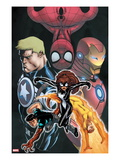 Avengers Academy Giant-Size No.1 Cover: Spider-Girl, Firestar, Reptil, Iron Man and Others Prints by Ed McGuiness