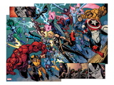Fear Itself: The Fearless No.10: Panels with Wolverine, Red Hulk, Ms. Marvel, Storm and Others Posters by Paul Pelletier