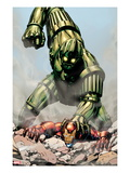 Iron Man: Titanium! No.1 Cover: Iron Man and Titanium Man Fighting Prints by David Yardin