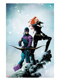 Widowmaker 1 Cover: Hawkeye and Black Widow Posing Prints by Jae Lee