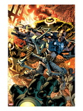 Ultimate Doom 1 Cover: Nick Fury Fighting Posters by Bryan Hitch
