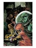 Thunderbolts 167 Cover: Troll, Moonstone, Boomerang, and  Mr. Hyde in the Stairwell Prints by Mike Del Mundo