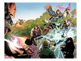 X-Men Legacy No.262: Exodus, Rogue, Wolverine, Hope, Surge, Pixie, Dust, Primal, Velocidad, Zero Prints by David Baldeon