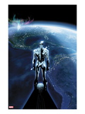 The Mighty Thor No.1: Silver Surfer Flying in Space, Looking at the Planet Poster von Olivier Coipel
