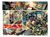 Avengers No.12.1 Cover: Panels with Ms. Marvel, Wolverine, Beast, Thor, and Moon Knight Prints by Bryan Hitch