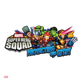 Marvel Super Hero Squad: Protecting Our City! Thor, Hulk, Cyclops, Iron Man, and Wolverine Running Posters