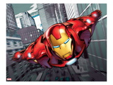 Iron Man Flying Kunstdrucke