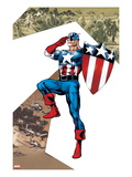 Captain America Corps No.2 Cover: Captain America Standing in Salute Poster by Phil Jimenez