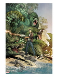 Incredible Hulk No.3: Bruce Banner Shooting, Surrounded by Giant Green Animals Print by Marc Silvestri