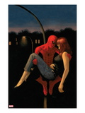 The Amazing Spider-Man 640 Cover: Spider-Man Holding Mary Jane Watson Print by Paolo Rivera