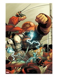 Thunderbolts 148 Cover: Ghost and Juggernaut Fighting Poster par Frank Martin