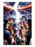 Avengers Vs. X-Men No.1 Cover: Captain America, Cyclops, Emma Frost, Gambit and Others Screaming Print by Jim Cheung