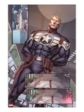 Steve Rogers: Super-Soldier Annual No.1: Panels with Steve Rogers Standing Print by Ibraim Roberson