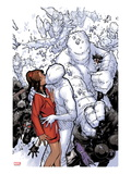 Wolverine & The X-Men 2: Iceman Kissing Kitty Pryde Prints by Chris Bachalo