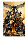 Wolverine: The Road to Hell 1 Cover: Wolverine, X-23, Deadpool, Psylocke, Archangel, and Fantomax Posters par Mico Suayan