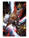 Astonishing Thor No.3: Thor Flying with Mjonir Posters by Mike Choi