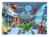 Marvel Super Hero Squad: Thor, Invisible Woman, Hulk, Iron Man, Spider-Man, and Thunderbolt Ross Posters