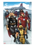 Daken: Dark Wolverine #9.1: Wolverine, Thor, Iron Man, Spider-Man and Others Print van Ron Garney